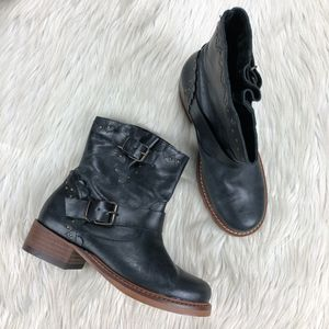 Musse & Cloud Scallop Trim Pull on Moto Boots